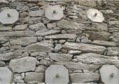 Minipalo Geosystem Consolidation murs de soutènement en pierre