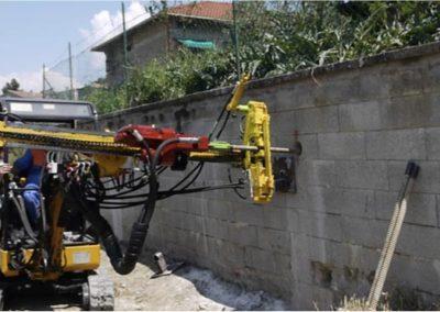 Minipalo Geosystem Consolidation murs de soutènement en béton armé