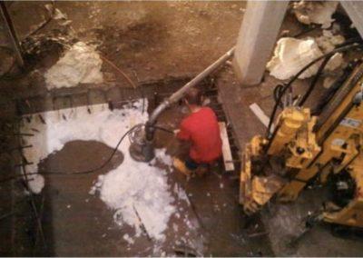 Minipalo Geosystem Mamparos para la impermeabilización debajo del nivel freático