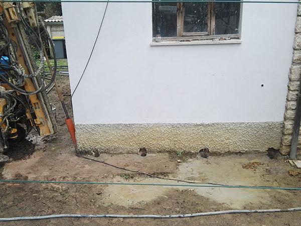 Minipalo Geosystem Eliminazione cedimento fondale - Bosco